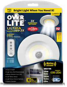 Over Lite Ultra - Overhead Motion Activated LED Light Remote Control Brightness