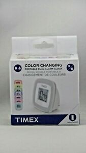 NEW Timex Color Changing Travel Alarm Clock