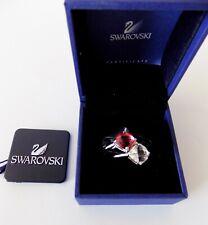 NWT Swarovski Crystal Maeva Red/ Clear Pair Rings Size 52/6 ~ #1051239