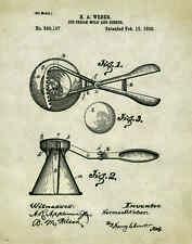 Ice Cream Patent Poster Art Print Museum Vintage Dairy Queen Scoop Cones PAT197