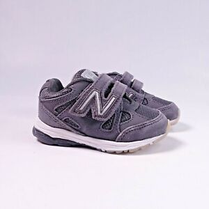 Size 4 WIDE Toddler/Infant Kid's New Balance 888 Sneakers Hook and Loop Grey