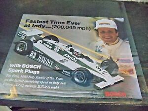 1983 Teo Fabi Indy 500 Poster Fastest Time