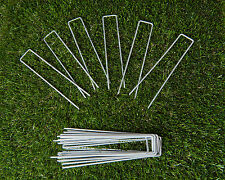 SYNTHETIC ARTIFICIAL TURF FAKE GRASS LAWN ACCESSORIES TURF PINS PEGS - 10 PACK