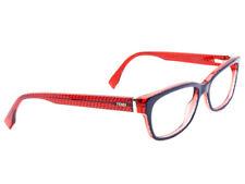 915b0e0718f Fendi Women s Eyeglasses FF 0004 7PP Navy Red Full Rim Frame Italy 53  16