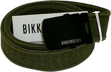 Cintura Uomo Bikkembergs Belt Men Tape Embossed DB H.4 D1812 Green Tag Uni Verde
