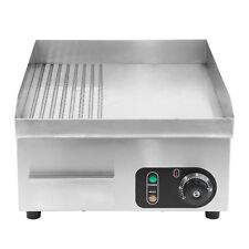 Electric Commercial Flat/Groove/Half Griddle/Hotplate/Grill Plate Camping Cook
