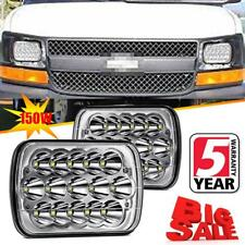 "2PC 7x6"" 5x7'' LED Headlights DRL For Chevy Express Cargo Van 1500 2500 3500 DOT"