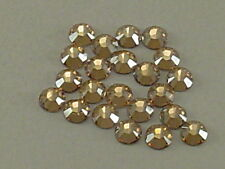 34ss GOLDEN SHADOW HOT FIX swarovski rhinestones 12pcs