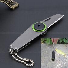 Military Mini Pocket EDC Tool Shiv Knife Zipper Blade Survival Self Defence Gear