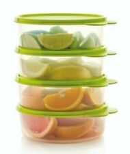 Details about  /TUPPERWARE Big Wonders Cereal Salad BOWLS /& SEALS Opaque Orange Set Of 4 New