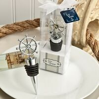 NEW! Ship's Wheel Wine Bottle Stopper Chrome Finish Drinker Decoration Gift Box
