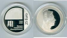 Luxemburgo 25 euro 2008 Banco Europeo de Inversiones plata pp