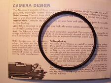 CALYPSO NIKKOR NIKONOS II O-RING BODY HEAD big O-ring underwater photography