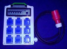 Stromverteiler,Adapter 32A auf 9xSchuko mit Fi-Schalter