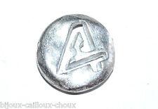 """1 BOUTON original du créateur BICHE DE BERE métal """" chiffre 4 """" 12mm button"""