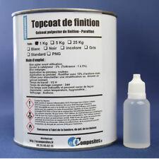 Topcoat INCOLORE / Gelcoat polyester de finition 1KG