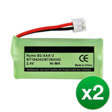 Replacement For At&T Bt183342 Cordless Phone Battery (700mAh Ni-Mh) - 2pk