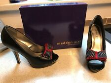 Madden Girl By Steve Madden Black Heels With Red/White/Black Polka Bow Heels