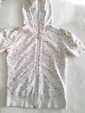 Romeo & Juliet Couture Soft Off-Whte Short-Sleeved Hoody/Shirt/Jacket Stars M