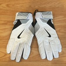 New Nike D-Tack 5.0 Lineman Football Gloves Leather Pgf463-100 White Adult Xxxl