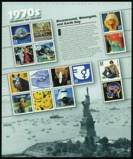 Celebrar el siglo década de 1970 Hoja de quince 33 Centavos Estampillas Postales Scott 3189
