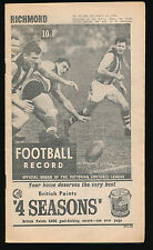 1966 VFL Football Record Richmond v Geelong August 13 Tigers Cats