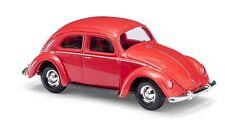 Busch H0, 42710 VW Escarabajo con Ventana Pretzel, Rojo, Modelo de Coche 1:87