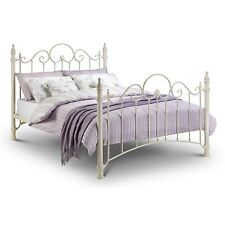 French Style Single 3'0 3ft Julian Bowen Florence off White Metal Bed Frame