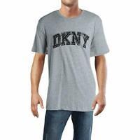 DKNY Men's Crew Neck Short Sleeve Graphic Logo T-Shirt (Gray, M)
