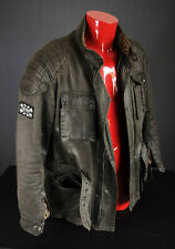 """Oxford Heritage Wax Motorcycle Jacket - Olive - XXL 46"""" - EXCELLENT CONDITION"""