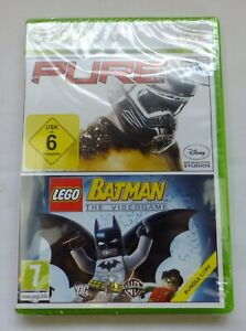 PURE / LEGO BATMAN DOUBLE GAME BUNDLE FOR XBOX 360 BRAND NEW & FACTORY SEALED