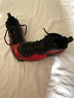 Nike Air Foamposite 2016 Pro University Red Black 624041-604 Size 11.5 Preowned