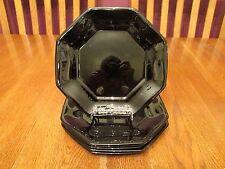 "Six Lovely Arcoroc Octime Black Glass Octagon 7 1/2"" Salad Plates"