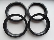 A set of 4pcs Plastic HUB CENTRIC HUBCENTRIC RING RINGS ID 57.1mm to OD 66.1mm