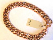 "NEW Solid Copper Chain (double) Link Mens 10"" Bracelet Arthritis Relief Folklore"