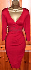 PHASE EIGHT STUNNING MAISIE RED WRAP JUMPER DRESS UK 12  OCCASION