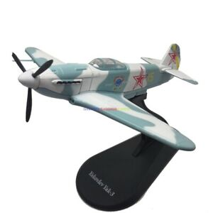 1/72 Diecast Plane Russia Yakovlev Yak-3 Soviet Air Forces WWII Fighter Aircraft