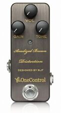 One Control Anodized Brown Distortion Guitar Effect Pedal - Designed By BJF NEW