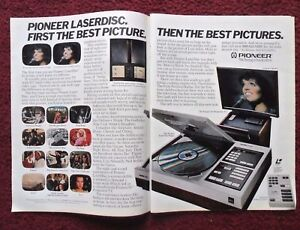 1981 Print Ad Pioneer Laserdisc Movie Player ~ LIZA MINELLI in Concert