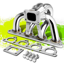 FOR 88-00 HONDA D-SERIES T25/T28 RACING PERFORMANCE TURBO MANIFOLD EXHAUST KIT