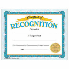 Certificates Of Recognition - Stationery - 30 Pieces