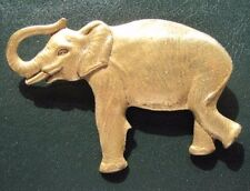 Elephant Pin - Animal Zoo Brooch Mammal - Gold Color - Jewelry - NEW