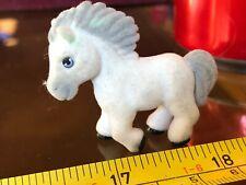 Pony in my Pocket Cute White Grey Horse Pony Toy Mini Animal Furry Fur