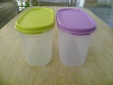 Tupperware Free Ship New Modular Oval Mate # 2 Set 2 Dry Storages 1 L (*Detail)