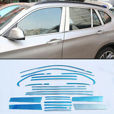 20pcs Stainless Steel Chrome Full Window Frame Sill Trim For BMW X1 2011-2015