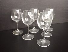 Set 6 Lead Crystal +24% PbO Stem Glasses 2 1/2 OZ by Crystal d'Arques