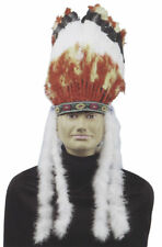 Morris Costumes Men's Traditional Feathers And Marabou Headdress Indian. FM57572