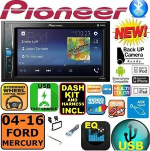 04-16 FORD MERCURY TOUCHSCREEN PIONEER Double Din Bluetooth USB Car Radio Stereo