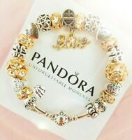 Authentic Pandora Bracelet Silver with Love Story European Charms