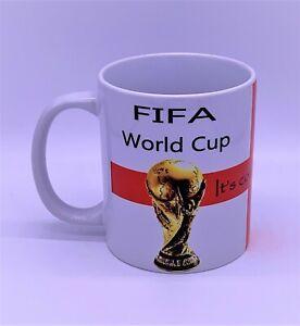 PS229 World Cup Mug QATAR 2022 England Three Lions It's Coming Home